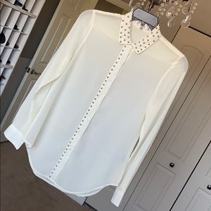 S. Line Studded Button Up Blouse